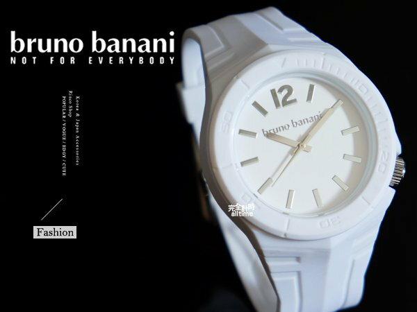 【完全計時】手錶館│德國時尚原裝bruno banani 矽膠錶帶 質感白 飾品 BR21060大錶徑 運動方型