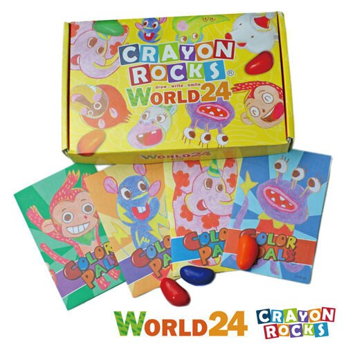 【美國酷蠟石 Crayon Rocks】酷蠟石 - 彩繪世界 24色 5059