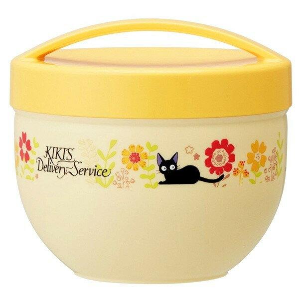 【真愛日本】18080400007碗型便當盒組-向日葵黃魔女宅急便奇奇貓宮崎駿便當盒保鮮盒向日葵餐盒