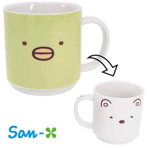 企鵝 北極熊~  ~ San~X 角落生物 角落公仔 握柄陶瓷馬克杯 咖啡杯 水杯 杯子