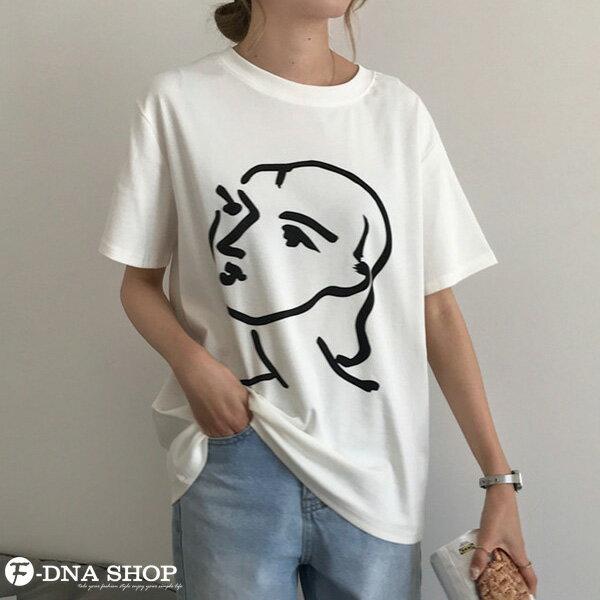 F-DNA★極簡印象派女王圓領短袖上衣T恤(2色-均碼)【ET12701】 6