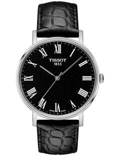 TISSOT天梭表T1094101605300Everytime經典時尚紳士石英腕錶黑錶帶+黑面38mm