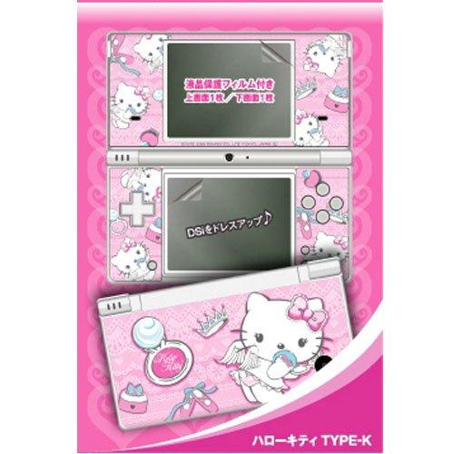 X射線【C621520】Hello Kitty Nintendo DS 外殼貼紙,便條/貼紙/記事本/辦公小物/文具用品/開學
