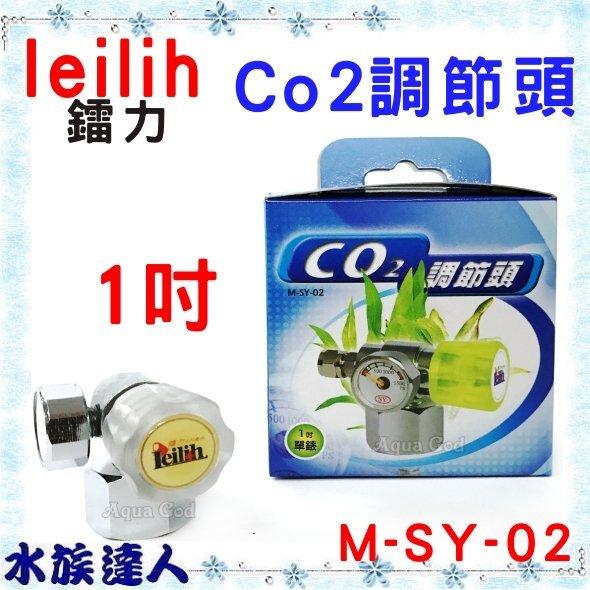 【水族達人】【CO2設備】鐳力Leilih《CO2 調節頭 1吋 單錶 M-SY-02》 微調閥