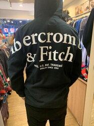 A&F AF 男生 後背標誌圓領長帽TEE Abercrombie & FITCH