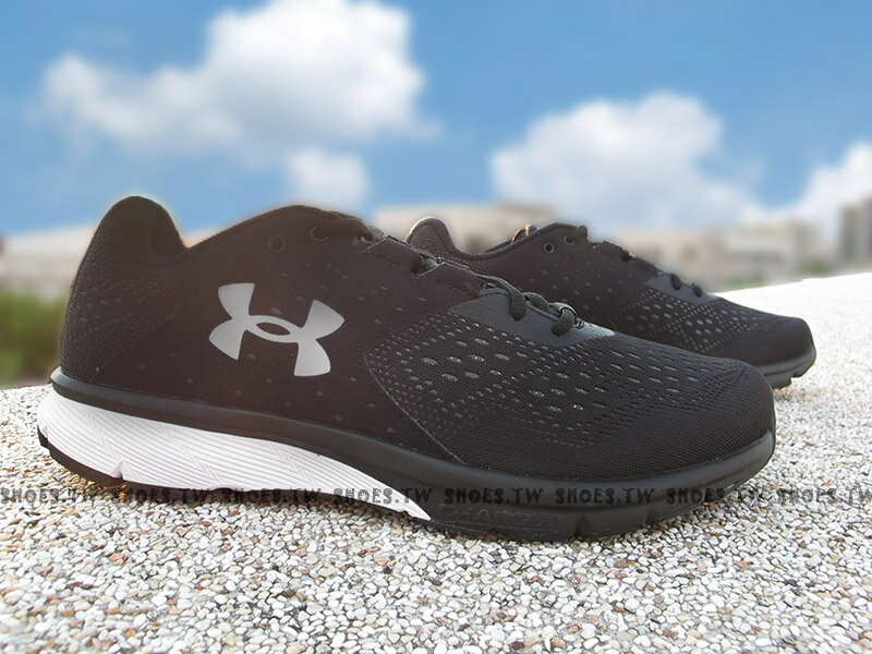 《下殺69折》Shoestw【1298553-001】UNDER ARMOUR Charged Rebe 慢跑鞋 網布 黑 男生 0