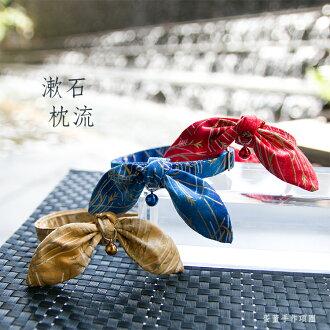 【蛋董の手作】貓貓安全扣項圈『漱石枕流--赫本巾+項圈一組』,高級棉布製作,舒適有型!!