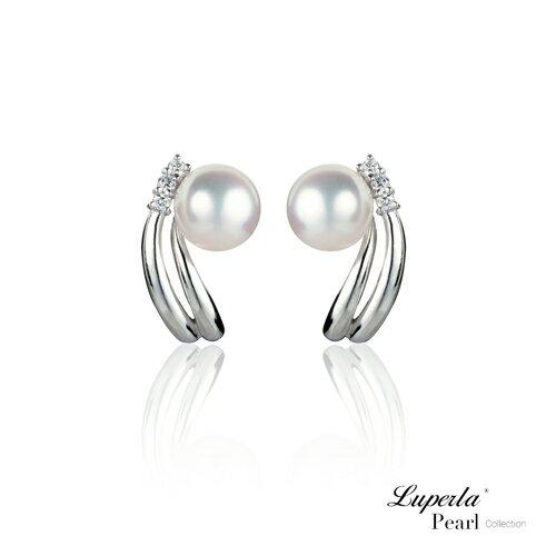 大東山珠寶 星光 頂級真鑽天然淡水珍珠14K白金耳環 夾式 0