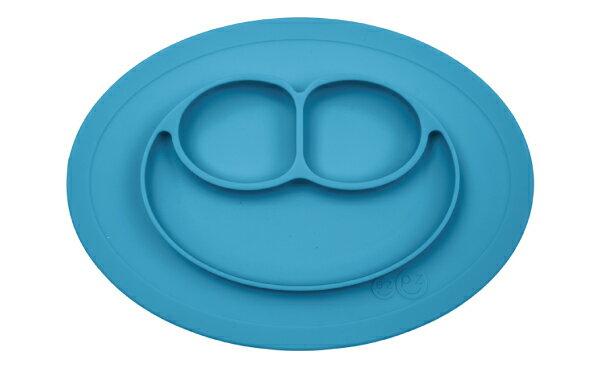 美國 EZPZ HAPPY MAT MINI 迷你餐盤/餐具/安全/無毒/矽膠 寶石藍