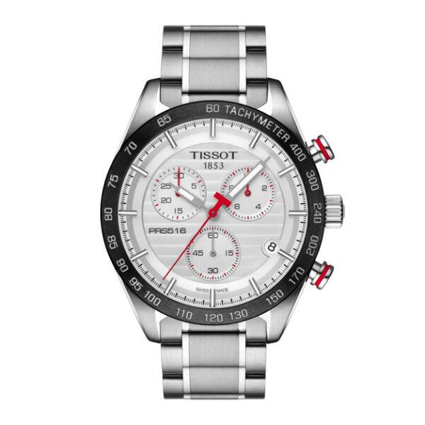 TISSOT天梭錶T1004171103100PRS516大三針機械腕錶白面42mm