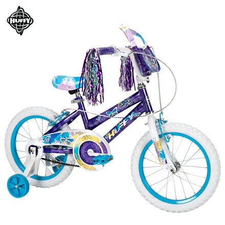 【HUFFY美國品牌】16吋女童車【冰雪奇緣配色】-紫色,兒童自行車,童車,兒童腳踏車,輔助輪童車