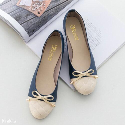 楔型包鞋  SALE 甜美蝴蝶結編織皮革楔型娃娃包鞋-預購