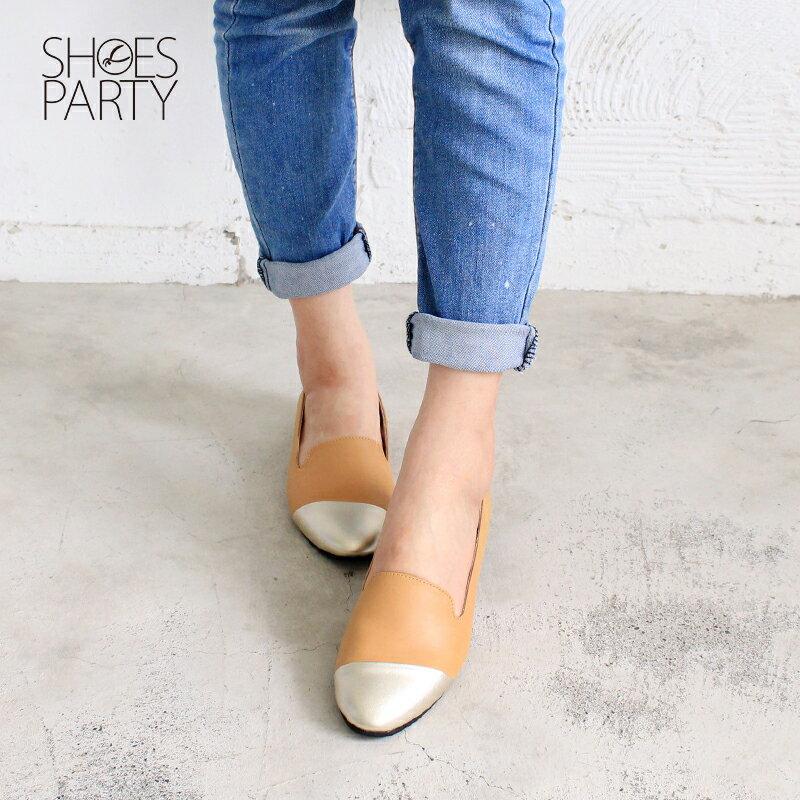 【 C2-17203L 】真皮拼接歐貝拉_Shoes Party 2