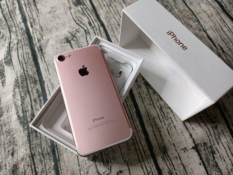 Apple iPhone 7 玫瑰金 128GB 附配件  售後保固1個月 618購物節 2