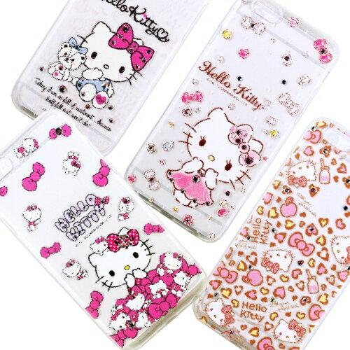 【Hello Kitty】iPhone6 /6s 彩鑽透明保護軟套