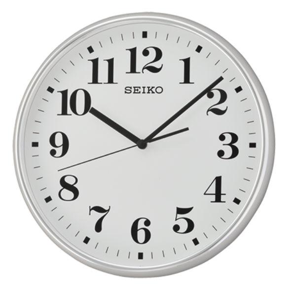 Seiko 精工鐘 (QXA697S) 優雅風格阿拉伯數字黑白標準鐘/35*4.5cm