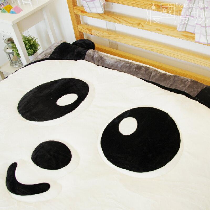動物造型法蘭絨被毯-竹の熊貓【細緻柔順、極暖、可當棉被使用 】#法蘭絨 #寢國寢城 3
