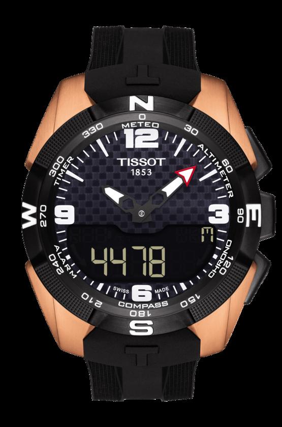 TISSOT 天梭錶 T-TOUCH EXPERT SOLAR NBA設計款 多功能登山腕錶T0914204720700 玫瑰金/45mm