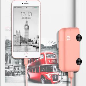 BUS巴士行動電源 蘋果 安卓通用10000毫安 減壓玩具 可愛造型 高容量快速充電寶 移動電源
