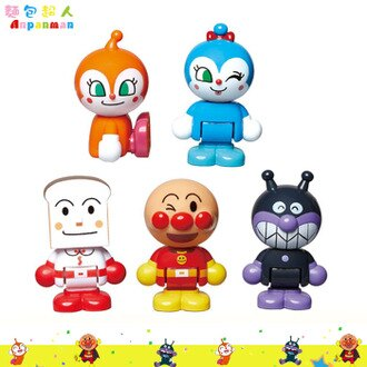 ANPANMAN麵包超人積木公仔玩具 公仔5入 幼兒玩具 人偶  3歲以上 日本進口正版  002901