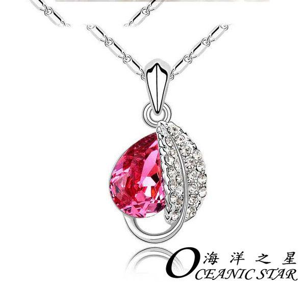 ✻蔻拉時尚✻ [D031N18] 海洋之星 項鏈 相思葉奧地利高貴絢麗優雅水晶項鏈