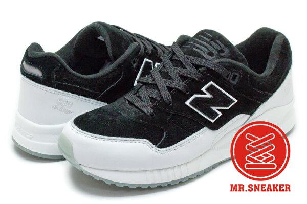 ☆Mr.Sneaker☆NEWBALANCE530M530復古麂皮殺人鯨配色黑白男女段