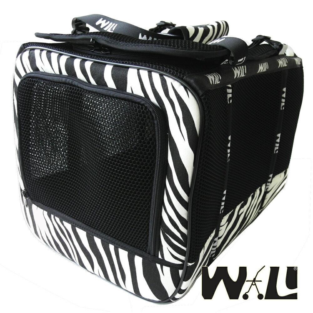 【WILL設計+寵物用品】WB-02款極透氣款外出包(宇宙黑+斑馬)