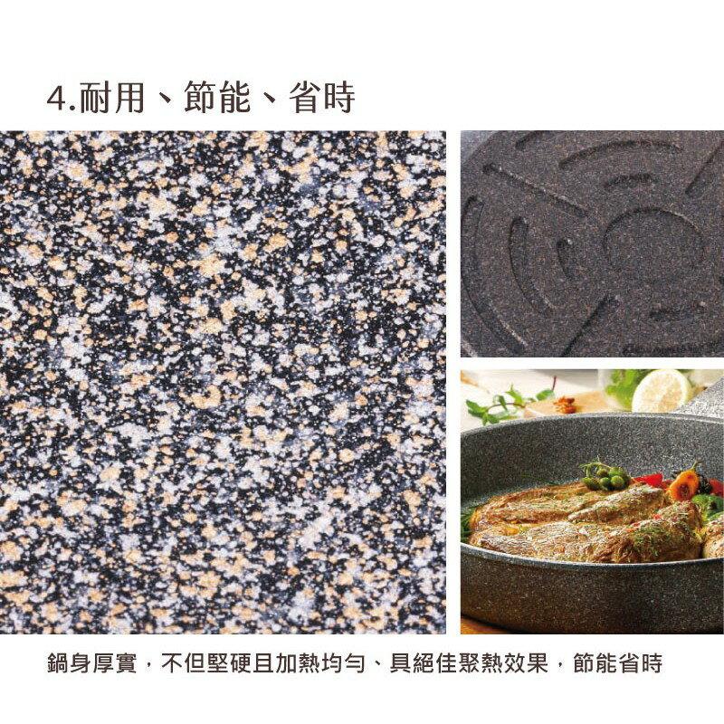 韓國 Chef Topf 崗石系列耐磨不沾煎鍋 28 公分/韓國製造/不沾鍋/洗碗機用/耐用崗石/方鍋 6