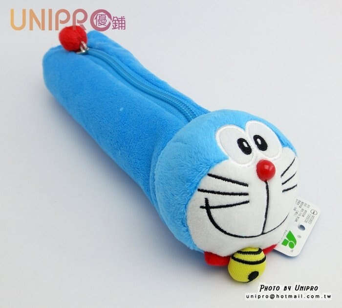【UNIPRO】 Doraemon 哆啦A夢 小叮噹 絨毛筆袋 萬用包 鉛筆盒