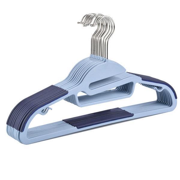 Dry Wet Amphibious Non-slip Steel Swivel Hooks Clothes Hangers 10pcs per set 0