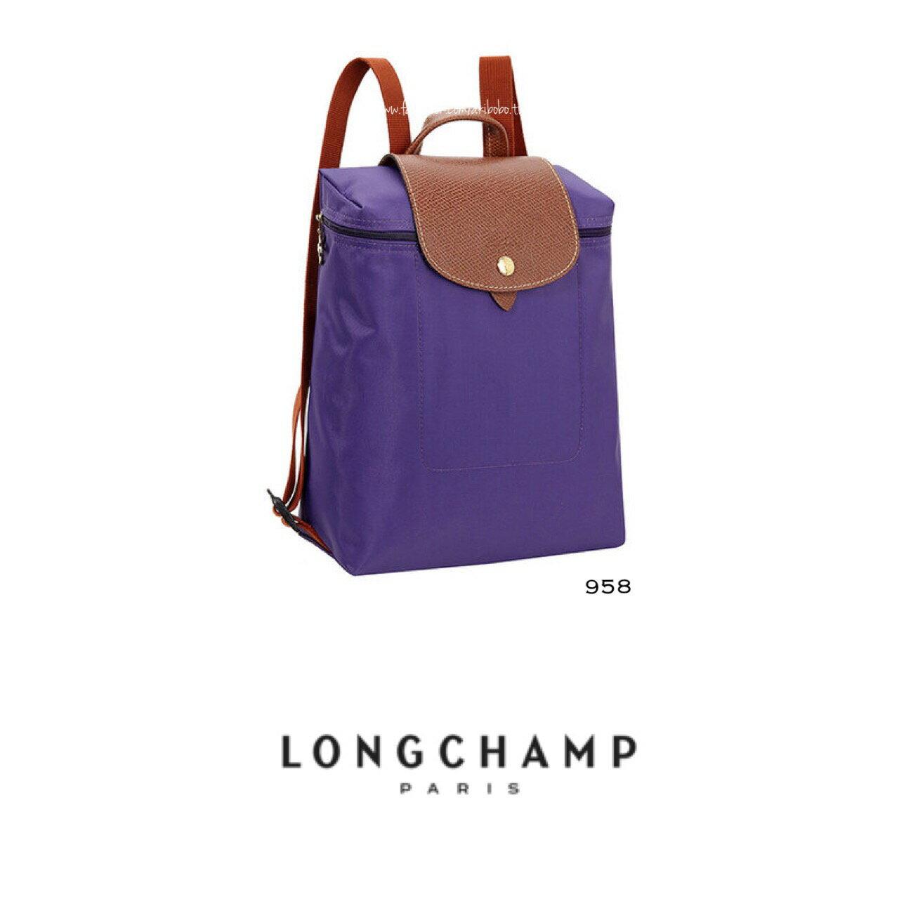 【LONGCHAMP】 LE PLIAGE 水晶紫折疊後背包 0