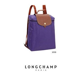 【LONGCHAMP】 LE PLIAGE 水晶紫折疊後背包