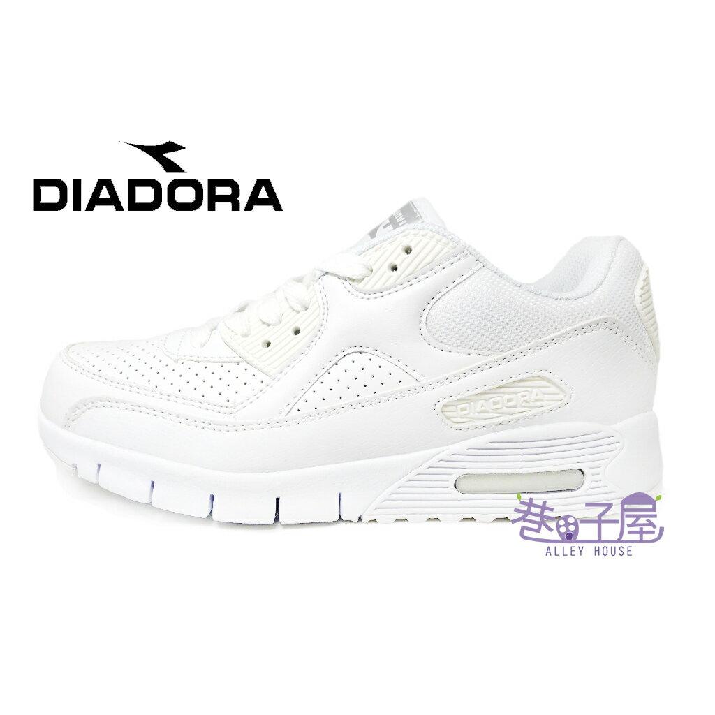 【巷子屋】義大利國寶鞋-DIADORA迪亞多納 女款D寬楦超輕潮流慢跑鞋 200g [2889] 白 超值價$590