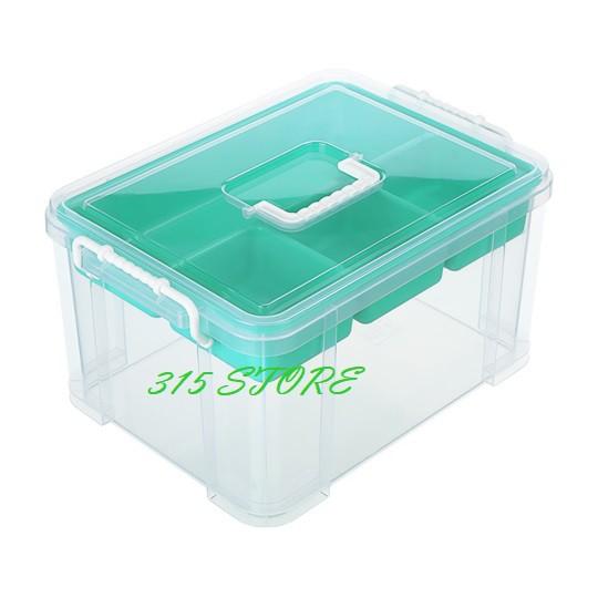聯府 HK09 手提雙層整理箱 (9L)  *1入【139百貨】