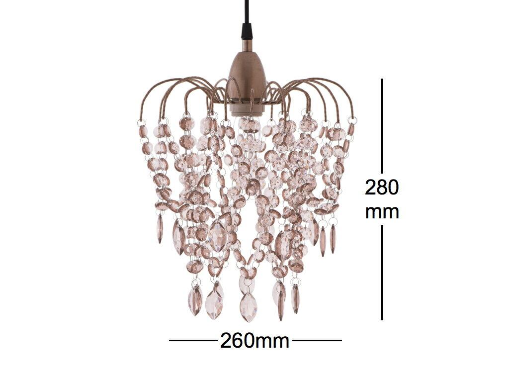 玫瑰金壓克力珠吊燈-BNL00047 3