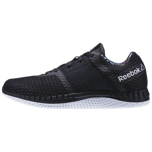 REEBOK Zprint Run Thru 男鞋 慢跑鞋 透氣 休閒 運動 切割 黑 白 【運動世界】 AR2856