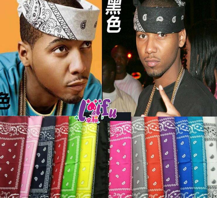 ★草魚妹★H715頭帶hiphop花色嘻哈街舞頭巾頭帶髮帶,1條售價99元