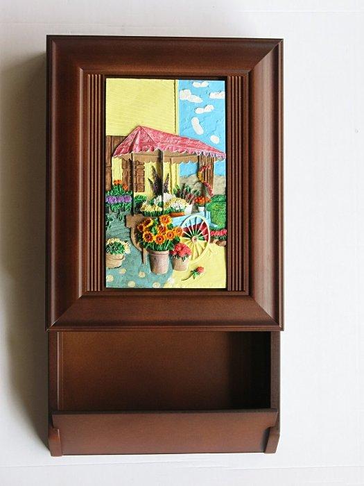 【尚品傢俱】807-125 悠閒時光信插 實木框鑰匙盒/鑰匙鎖盒/收納盒/掛飾/吊飾/裝飾家具/收藏盒