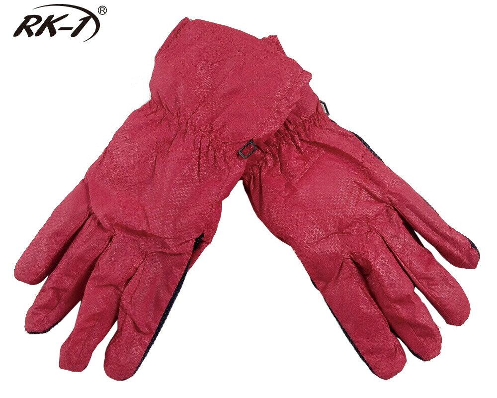 小玩子 RK-1 女用 手套 保暖 防寒 防潑水 伸縮 止滑 舒適 簡約 經典紅 騎車 機車