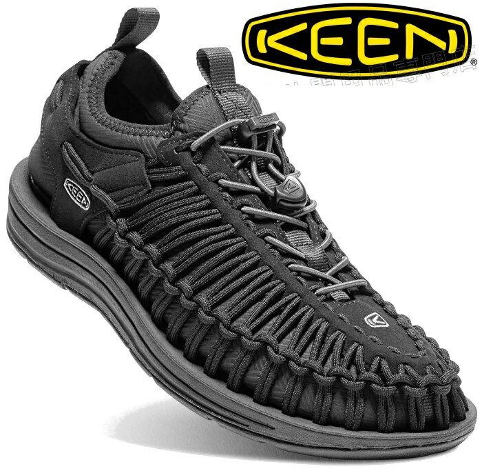 KEEN 繩編休閒鞋/帆船鞋/編織鞋 UNEEK HT 男 1018025 全黑 台北山水