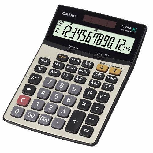 【CASIO卡西歐】 CASIO DJ-220D Plus 12位數桌上型商用計算機