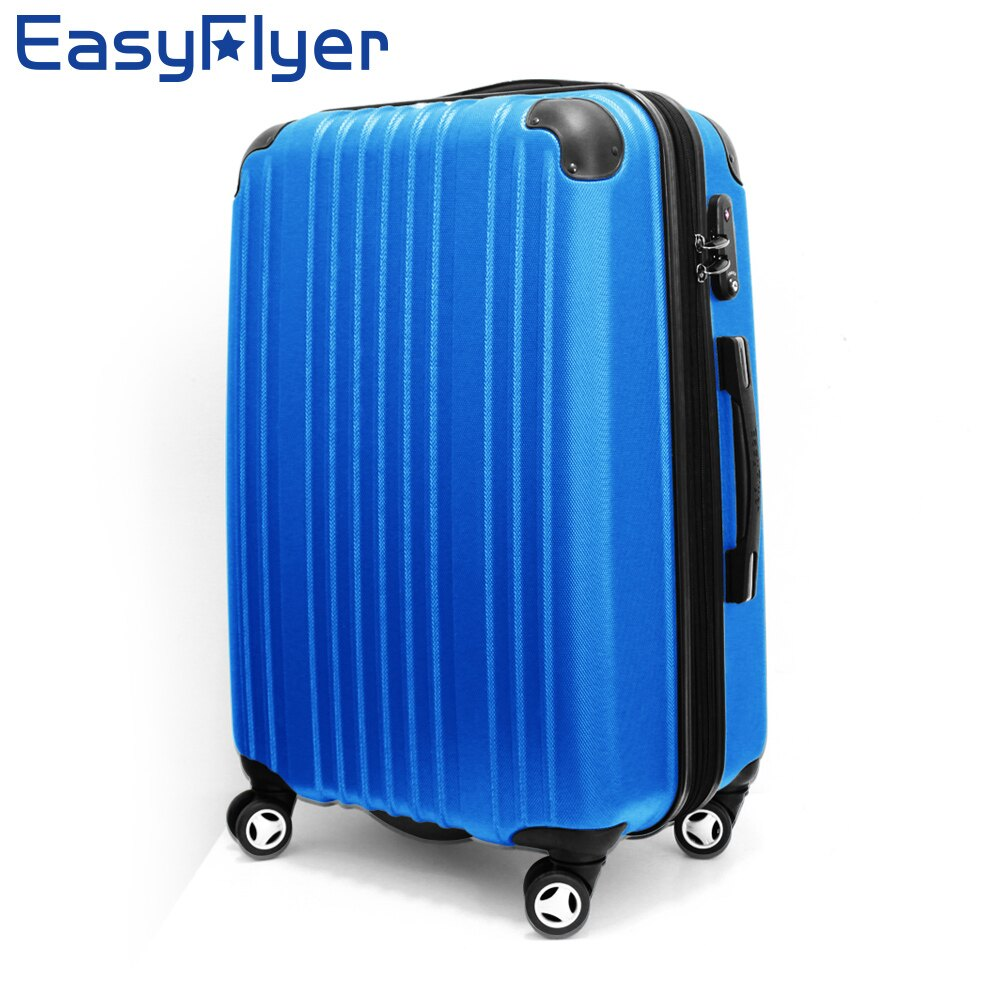 【騷包館】 EasyFlyer 24吋 鑽石Venus 霧面可加大飛機輪旅行行李箱 結晶藍 EF-1521