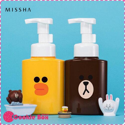 韓國 MISSHA LINE FRIENDS 潔面 慕斯 250ml 洗面乳 清潔 聯名 熊大 莎莉 *餅乾盒子*