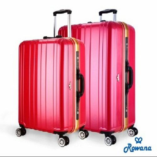 【現貨/預購】Rowana勁彩塑鋼25吋PC鏡面鋁框旅行箱/行李箱(多色任選)【H00127】