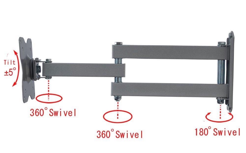 """Articulating TV Wall Mount Tilt Swivel Bracket for Vizio 19 22 24 28 29/"""" LED bim"""