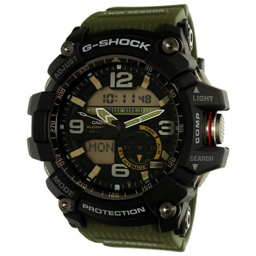Casio Men's G-Shock GG1000-1A3 Green Rubber Quartz Sport Watch 0
