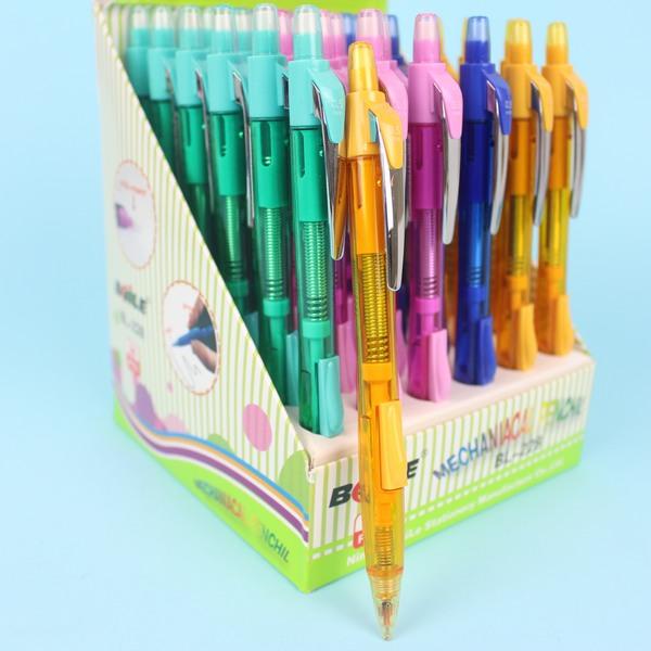 BHILE 搖搖筆+側壓筆 BL-228 自動鉛筆0.5mm(透明彩桿帶皮頭)/一支入{定20}~萬