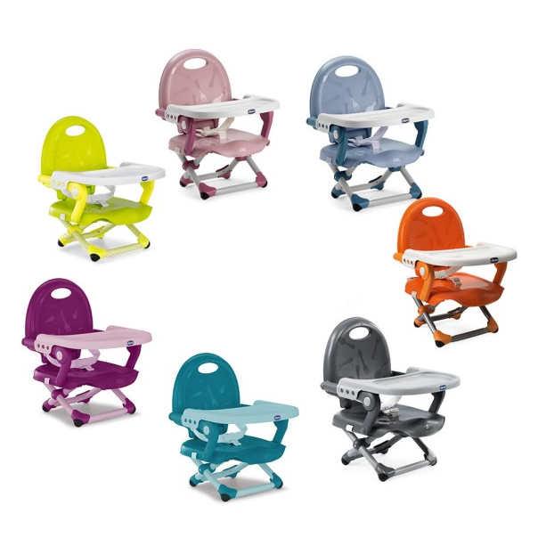 《 義大利chicco》Pocket攜帶式輕巧餐椅座墊-橙橘 綠 玫瑰粉 星燦灰 紫羅蘭 土耳其藍 檸檬黃 空氣藍 618 節