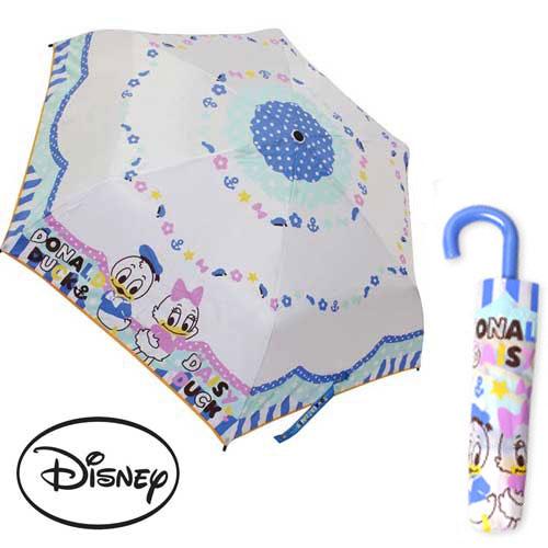 【日本進口正版】迪士尼 唐老鴨 黛西 輕量型 晴雨傘 折疊傘 附傘套 Disney - 059890
