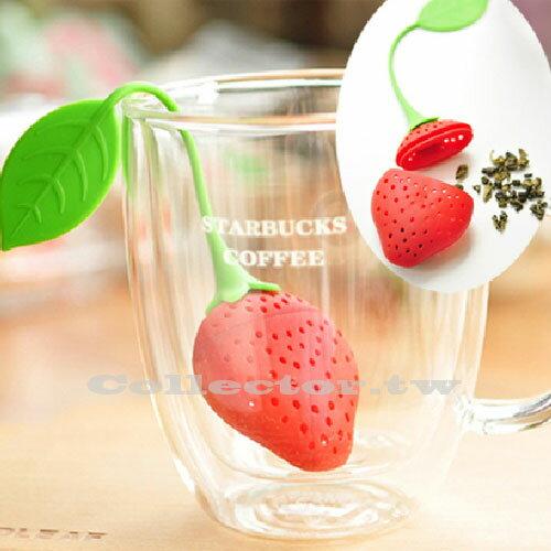 【N14041401】草莓造型 矽膠茶葉過濾器  矽膠泡茶器 茶葉過濾包